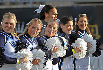 2011 NCAA football - cheerleaders Editorial Photo