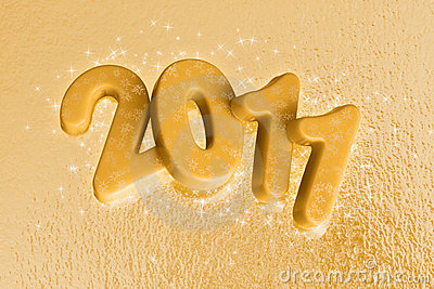 2011 new year - gold star