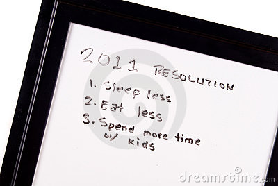 2011 New Year Resolutions