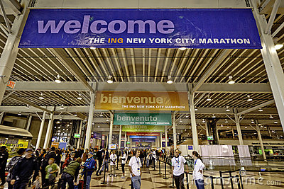 2011 New York City Marathon Expo at Javits Center Editorial Photography