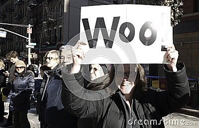 2011 New York City Marathon - Funny Sign Editorial Photo