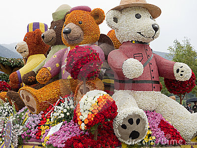 2011 Rotary Rose Parade Committee Float Editorial Image