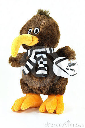 2011 Rugby World Cup - All Blacks Mascot Kiwi Editorial Stock Photo
