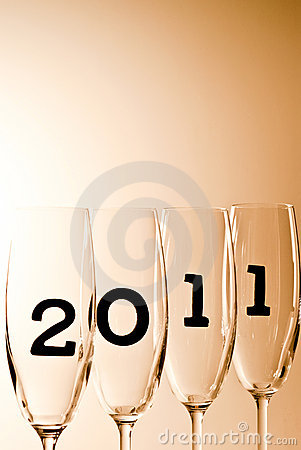 2011 V8 champagne glasses