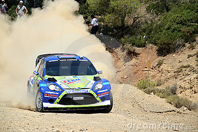 2011 WRC Rally Acropolis -  Ford Fiesta RS Editorial Stock Photo