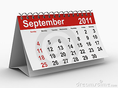 2011 year calendar. September