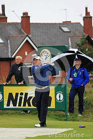 2012第9高尔夫球庇护开张发球区域westwood 编辑类照片