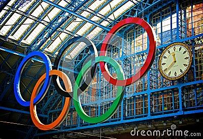 2012 Ολυμπιακοί Αγώνες του Λονδίνου αντίστροφης μέτρησης Εκδοτική Στοκ Εικόνα