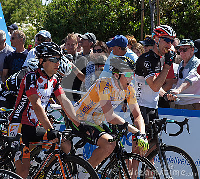 2012 Amgen Tour of California Starting Line Editorial Stock Photo