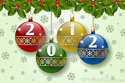 2012 balls decoration