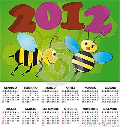 2012 bee calendar italian