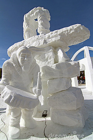 2012 Breckenridge Snow Sculpture Competition Editorial Stock Image