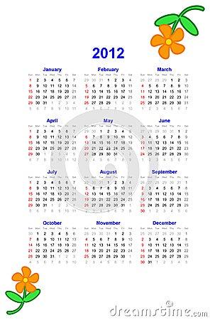 2012 Calendar