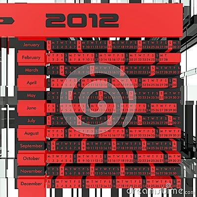 2012 Calendar 3D