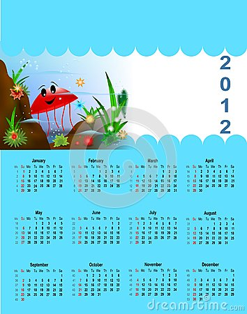 2012 Calendar for children