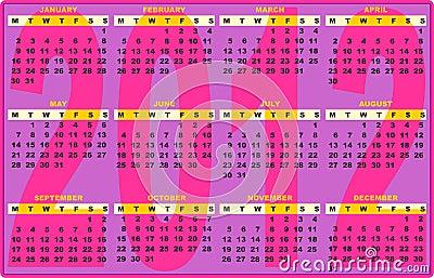 2012 Calendar Fashion