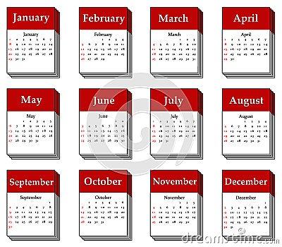 2012 calendar icon