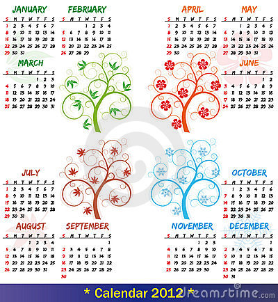 2012 calendar season tree