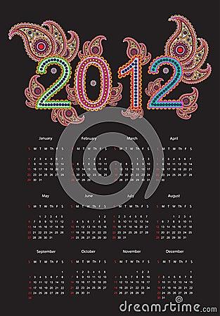 2012 Calender