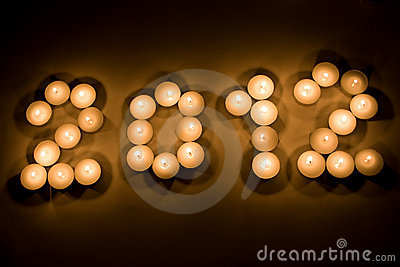 2012 with candles