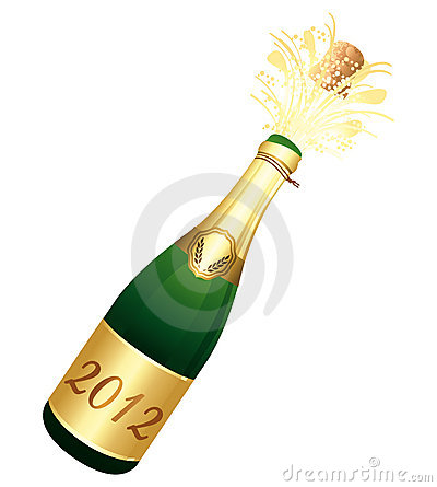 2012 Champagne bottle
