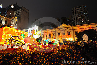 2012 chinese new year in macau Editorial Photo