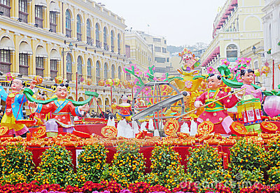 2012 chinese new year in macau Editorial Image