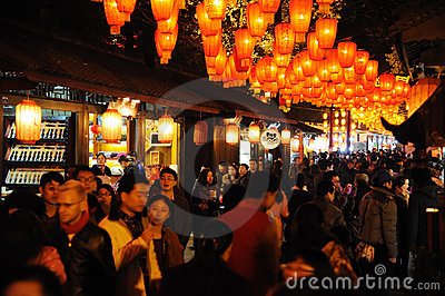 2012 Chinese New Year Temple Fair in Chengdu Editorial Image