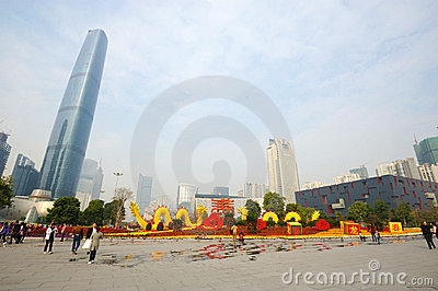 2012 chinese spring festival in guangzhou Editorial Stock Image