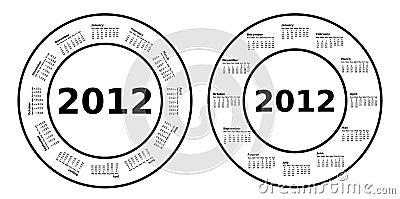 2012 Circle Calendars