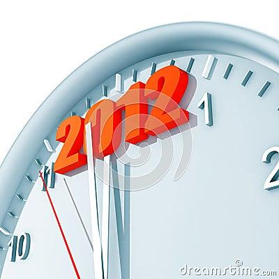2012 on clock