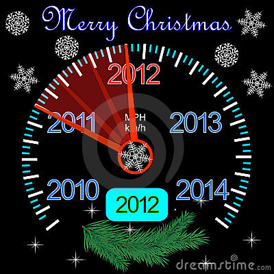 2012 counter on the dashboard for new year