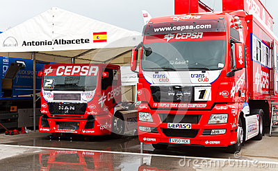 2012 FIA European Truck Racing Championship Editorial Stock Photo