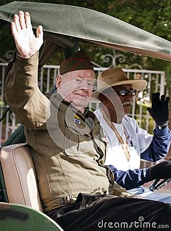 2012 Fiesta Bowl Parade Army Veteran Editorial Image