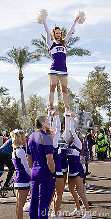2012 Fiesta Bowl Parade College Cheerleaders Editorial Stock Photo