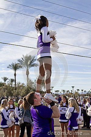 2012 Fiesta Bowl Parade College Cheerleaders Editorial Stock Photo
