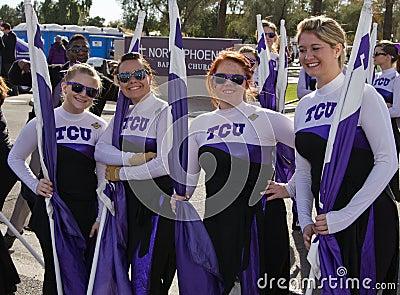 2012 Fiesta Bowl Parade College Cheerleaders Editorial Stock Image