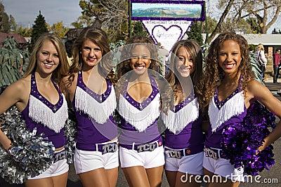 2012 Fiesta Bowl Parade College Cheerleaders Editorial Photo