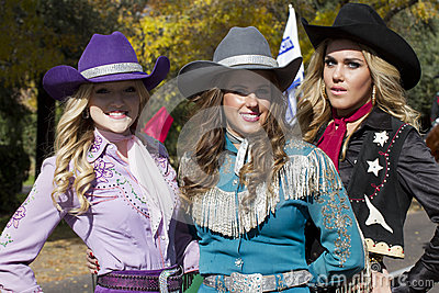 2012 Fiesta Bowl Parade Cowgirls Editorial Photo