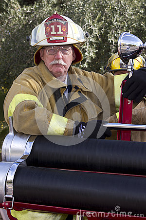 2012 Fiesta Bowl Parade Fireman Fire Cheif Editorial Image