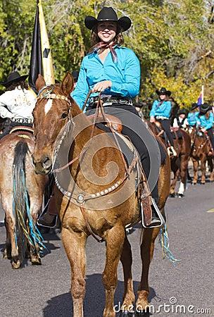 2012 Fiesta Bowl Parade Horse Rider Editorial Image