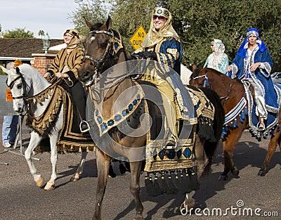 2012 Fiesta Bowl Parade Horseback Riders Editorial Image