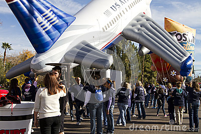 2012 Fiesta Bowl Parade Large Inflatables Editorial Image