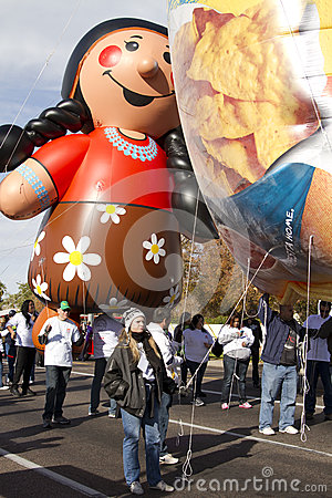 2012 Fiesta Bowl Parade Large Inflatables Editorial Stock Image