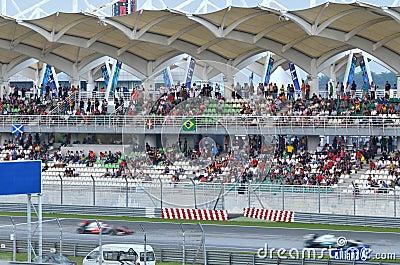 2012 Formule 1 GP in Kuala Lumpur, Maleisië Redactionele Foto