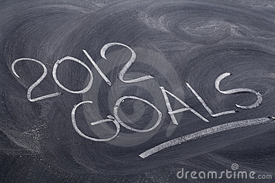 2012 goals on blackboard