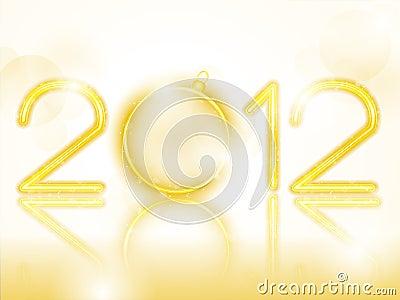 2012 Golden Neon with Christmas Ball