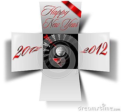 2012 happy new year box
