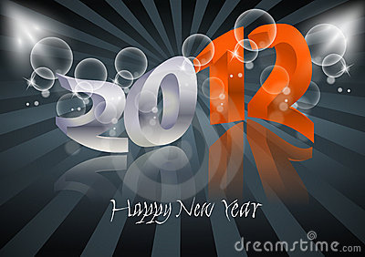 2012 Happy New Year card