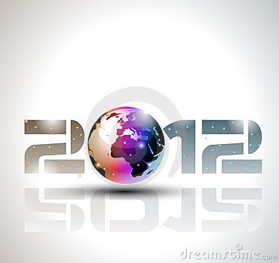 2012 happy new year celebration background